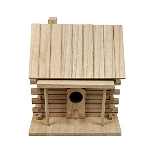 SCDCWW Casa De Madera para Pájaros, Caja Cálida para Cría De Pájaros, Nido para Exteriores, Choza para Mascotas, Jaula De Juguete, Decoración
