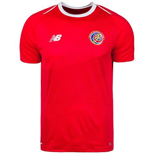 New Balance Camiseta para hombre., Hombre, rojo, blanco y azul, small