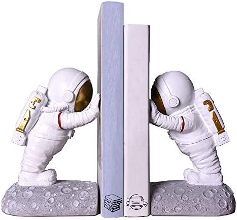 Joyvano Astronaut Decorative Bookend Book Ends for Office Decorative Bookends for Shelves Book product image