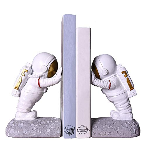Joyvano Astronaut Decorative Bookend  Book Ends for Office Decorative Bookends for Shelves Book Holders for Shelves Bookends Decorative Books Modern Bookends for Heavy Books Holder Book Stoppers