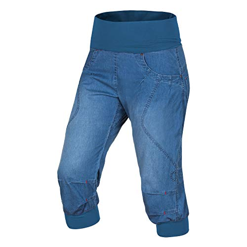 Ocun Noya Jeans Shorts Damen Middle Blue Größe L 2020 Hose kurz