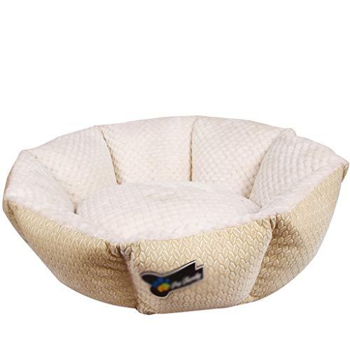 Cama para Mascotas Casa de Gato PP Algodón Casa de Cata Cojín Cojín Calm Pet Bed Kennel Super Suave Mullido Cómodo Mascota Jerarquía para Perro Gato Grande