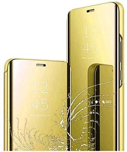 Yrzper - Funda para iPhone 12 Pro / 12 Max (función atril, 360 grados), color dorado