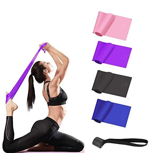 Goma Bandas Elasticas Fitness, 2M Cintas Elasticas con 4 Niveles de Resistencia, bandas de entrenamiento de fuerza, para Musculacion, crossfit, pilates ,mujeres,profesional,flexibilidad,Piernas,Brazos