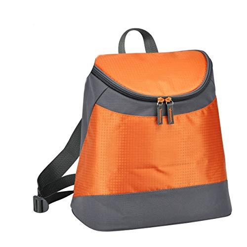 Spetebo Sac à dos isotherme 31 x 30 x 18 cm – Capacité : 8 l – Couleur : gris/orange – Sac à dos isotherme