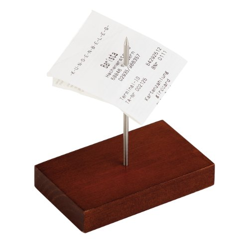 APS 88.855 Bonspieß mit Holzsockel, ca. 9 x 5,5 x 1,5 cm