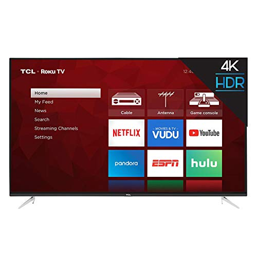 TCL 55S423 55' 4K UHD HDR Roku Smart TV (Renewed)
