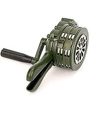 Reuvv Hand Crank Siren Hoorn Draagbare 110dB Handleiding Bediende Metalen Alarm Air Raid Noodveiligheidsalarm