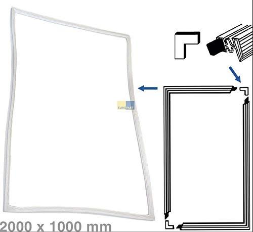 Juego de juntas para puerta para atornillar en frigorífico, 2000 x 1000 mm