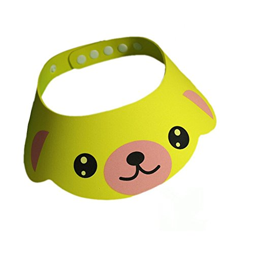 SZTARA, chapeau de bain en carton pour les enfants — chapeau de bain doux réglable — pare-soleil - écran facial, visière, EVA, jaune, Standard