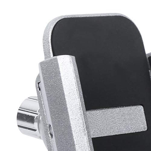 Cerlingwee Soporte para teléfono móvil para Bicicleta, Soporte para teléfono para Bicicleta de aleación de Aluminio, Soporte Fijo para teléfono, Ciclismo al Aire Libre para Smartphone(Silver)