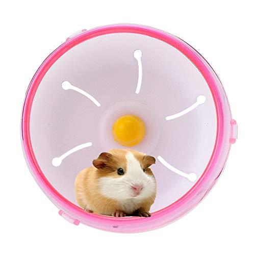 Ciaran Hamster Wheel Silent Spinner Blue,Ratones de hámster 17cm/6.7inch Gerbil Rat Ejercicio Rueda silenciosa Spinner PP Ejecutar Disco pequeño Animal de Juguete para Mascotas