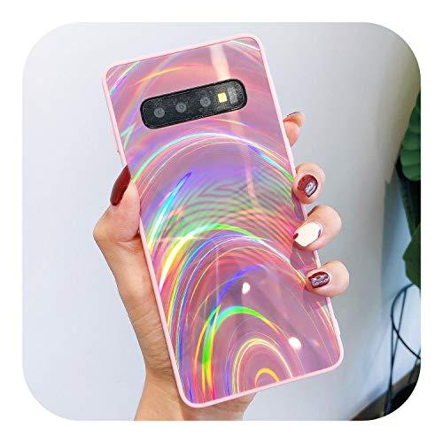 3D Rainbow Glitzer Handyhülle für Samsung Note 10 S10 S9+ A51 Cover für A7 2018 A50 A20S S20 Plus Pink für Samsung S9 Plus