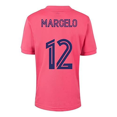 Champion's City Kit – Spieler – Trikot und Hose für Kinder, zweite Ausrüstung – Real Madrid – Replica – Saison 2020/2021, Weiß 12 Jahre