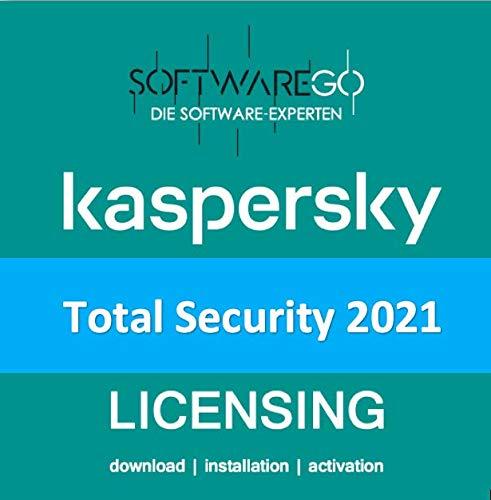 Kaspersky Total Security | 2021 | 5 Geräte | 2 Jahre | Vollversion (als Update & Standart verwendbar) | PC/Mac/Android | Lizenzcode per Post in frustfreier Verpackung | designed by softwareGO