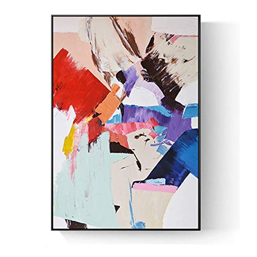N / A Colorful Graffiti Oil Abstract Painting Canvas Prints Wall Painting Pictures Living Room Decoration Frameless 8x24 cm