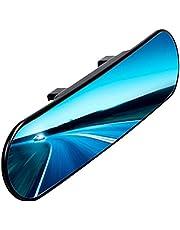 Chytaii - Espejo retrovisor para coche, espejo panorámico de gran angular con clip, espejo de titanio antirreflectante, ángulo redondeado