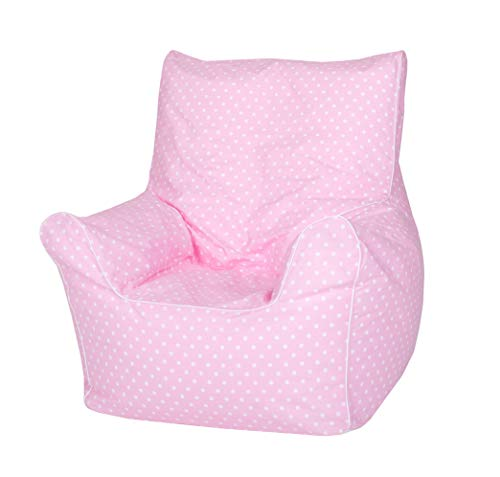 Knorrtoys 68115 Kindersitzsack Junior-Pink White dots