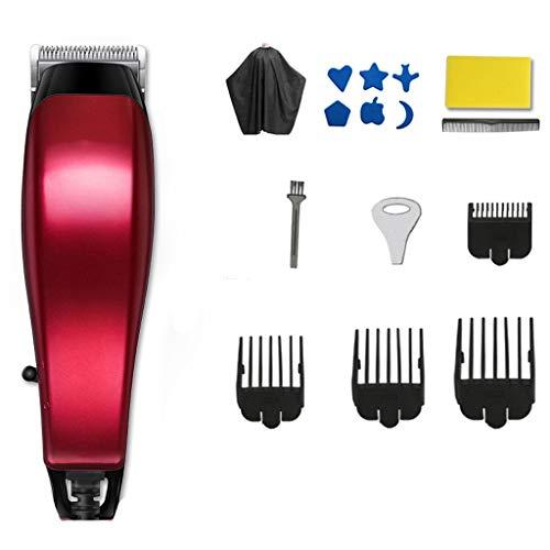 Tondeuse à cheveux SLL Tondeuse électrique Rechargeable Tondeuse électrique Ménage Tondeuse électrique Tondeuse Professionnelle Cheveux Artifact Pratique (Color : Red)