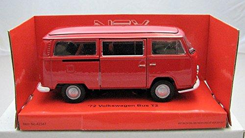 Welly DieCast metall Modellauto 1:36-39 1972 Volkswagen VW Bus T2 rot neu und box