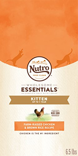 NUTRO WHOLESOME ESSENTIALS Kitten Dry Cat Food Farm-Raised Chicken & Brown Rice...