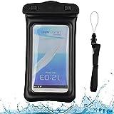 VG Case Black Floating Waterproof Cell Phone Case Dry Bag Pouch for LG V50 G8s G8 V40 V35 V30S G7 ThinQ, Q9, Q60, K50, K40, G7, Stylo 4, X5, V30, V30+, X Charge