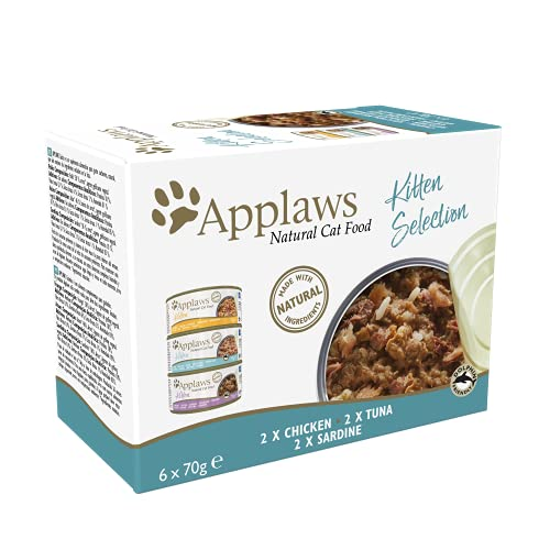 Applaws Natural Cat Food, Kitten Multipack Chicken and Fish Selection in...
