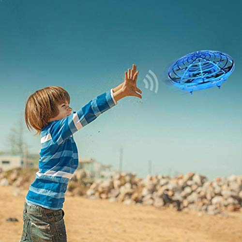 AllSeasons Boys Toys Kids Flying Drones Mini Hand Controlled Flying Drone with LED Light for Kids, Boys and Girls Gift 3 Years and Older (Blue) Georgia
