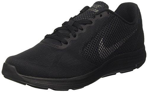 Nike Herren Revolution 3 Laufschuhe, Schwarz (Black / Metallic Dark Grey / Anthracite), 40.5 EU