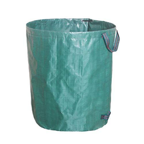 Mingdoo Gartensack für Grünabfälle Wasserdicht Reißfest Laubsack Kompostierbare Müllbeutel - Grün, 272L (D67*H76cm)