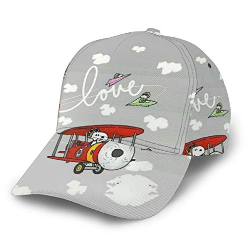 Cartoon Snoopy Baseball Cap Herren Damen Washed Fashion Fun Adjustable Print Sports Casual Breathable Sun Hat Schwarz