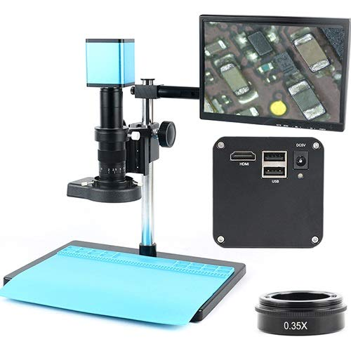 TANGIST FHD 1080P Industry Autofocus Sony IMX290 Video Microscope Camera U Disk Recorder CS C Mount Camera for SMD PCB Soldering for Natural Observation/Part Inspection (Color : C)