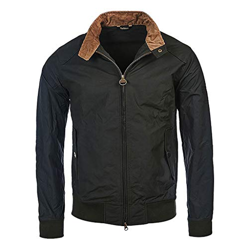 Barbour International - Chaqueta verde Salvia Steve McQueen Rectifier Harrington