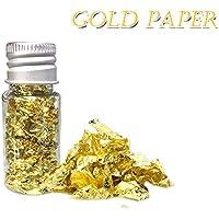 Decdeal 24 K Copos de Oro Comestibles Alimentos Decoración Papel de Aluminio Cocina Pastel de Mousse Hornear Pastelería Arte Artesanía Decoración