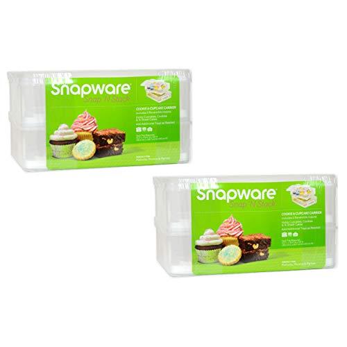 Snapware Snap 'N Stack 2-layer Cupcake, Cookie, Cake, and Brownie Carrier - 2 Pack