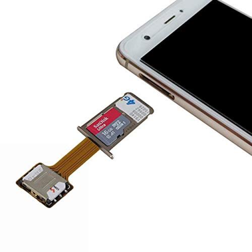 Kongqiabona-UK 1PCS Ranura para Tarjeta SIM híbrida Universal Adaptador de Tarjeta SIM Dual Micro Extender Nano a Nano para teléfonos Android de Xiaomi