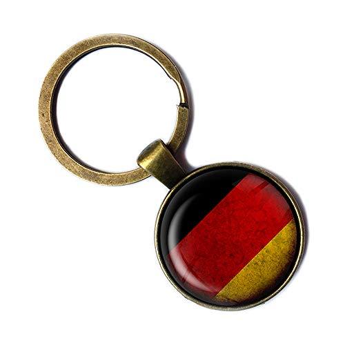Germany German Flag Deutschland Deutsche Flagge Keychain Bronze Schlüsselanhänger