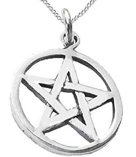 Legisdream Collar de Estrella de 5 Puntas el espíritu Que domina el Material de wicca esotérico Unisex