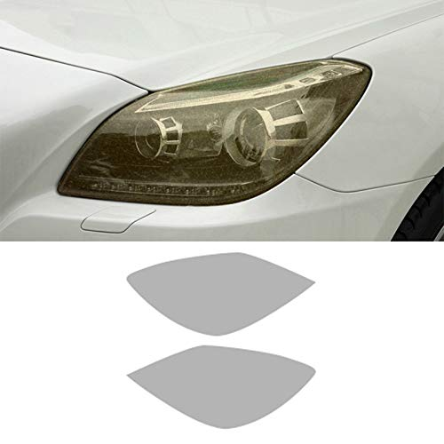Piaobaige 2 Stück Auto Scheinwerferfolie Transparent Schwarz TPU Aufkleber Für Mercedes Benz SLK Klasse R172 AMG 2011 2015