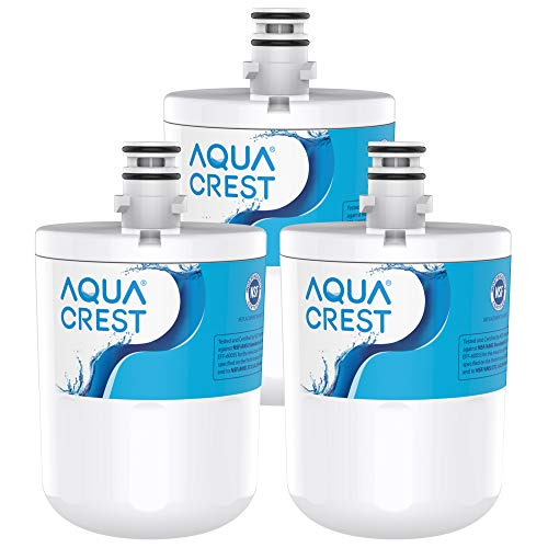 AQUACREST 5231JA2002A Refrigerator Water Filter, Replacement for LG LT500P, GEN11042FR-08, ADQ72910911, ADQ72910901, ADQ72910907, Kenmore 9890, 46-9890, LFX25974ST, LMX25964ST, LSC27925ST (Pack of 3)