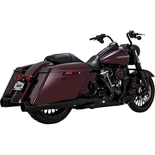TERMINALI FINALI MArmitte Scarichi MUFFLER Vance & Hines Torquer 450 Slip-Ons NERI 46674 per Harley Davidson M8 Touring Road King Electra Street Road Glide