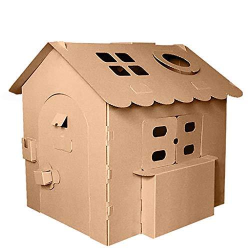 FSFF Casa de Juegos Casas de cartón Graffiti para Colorear Robusto 3D Artes Hechas a Mano Artes móviles Plegables ive Juguetes para niños Niños al Aire Libre Interior Decorar Juegos Modelo