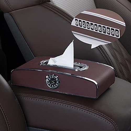 SCASTOE Soporte rectangular de la caja del tejido del reloj del coche multifuncional para el coche del camión