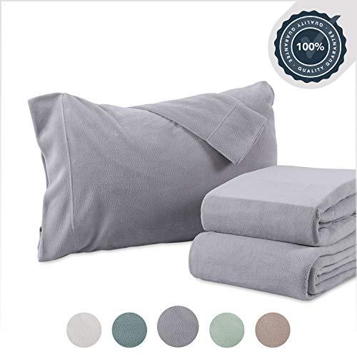 Berkshire Blanket Heavyweight Polarfleece Fleece Sheets, Queen,...