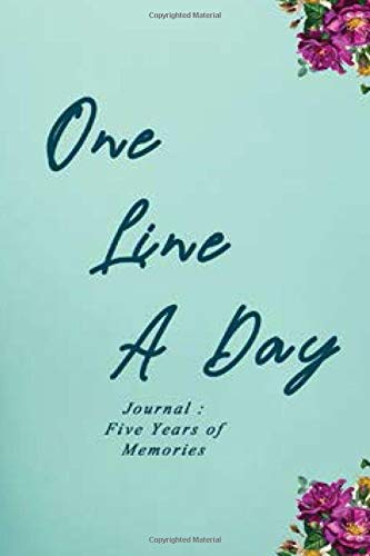 One Line A Day Journal: Five Years of Memories, 6x9 Lined Notebook, (Memoir notebook): Gift for Mom / Gift for Parent's / Parent's Day / Lined Notebook