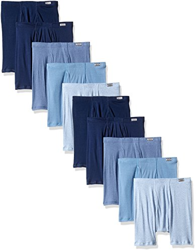 Hanes Men's 10-Pack Comfort Soft Boxer Briefs, Assorted, Meduim