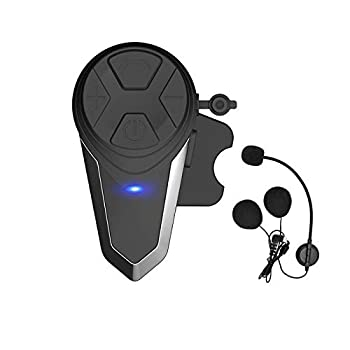 THOKWOK Motorcycle Bluetooth Intercom,BT-S3 1000m Helmet Bluetooth Headset Motorcycle Bluetooth Communication System for Ski/ATV/Dirt Bike/Off Road Up to 3 Riders Boom Microphone Pack 1