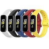Monuary 5 Piezas Correas Compatible con Samsung Galaxy Fit2 Pulsera, Silicona Reloj de Recambio Brazalete Coloridos Correa para Galaxy Fit 2