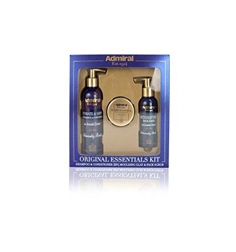 Admiral Original Essentials: Hair Clay, Facial Scrub, Shampoo & Conditioner