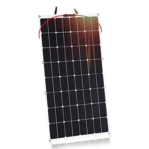 Kingsolar 100W Durable ETFE Semi Flexible Panel Solar Cargador de batería para automóvil, barco, caravana, etc.